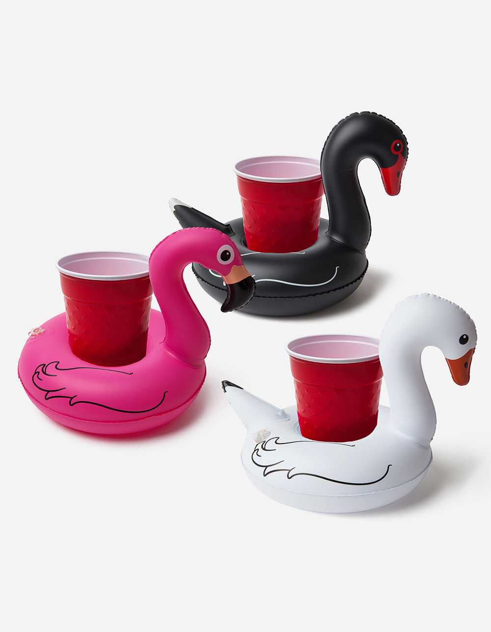 Image of BIGMOUTH INC. 3 PACK TROPICAL BIRD INFLATABLE BEVERAGE BOATS
