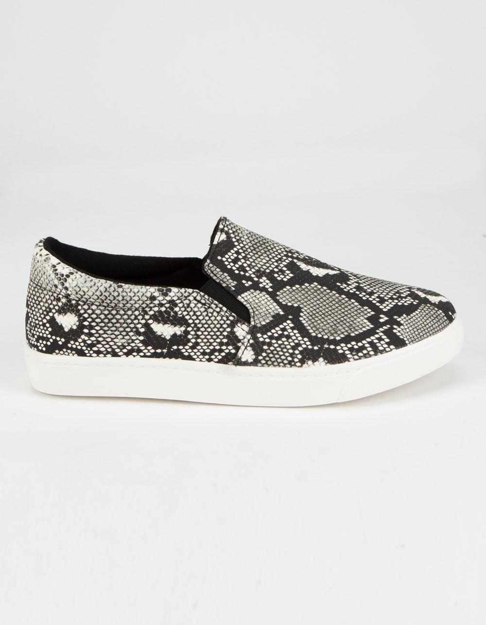 SODA Reign Snake Slip-On Shoes