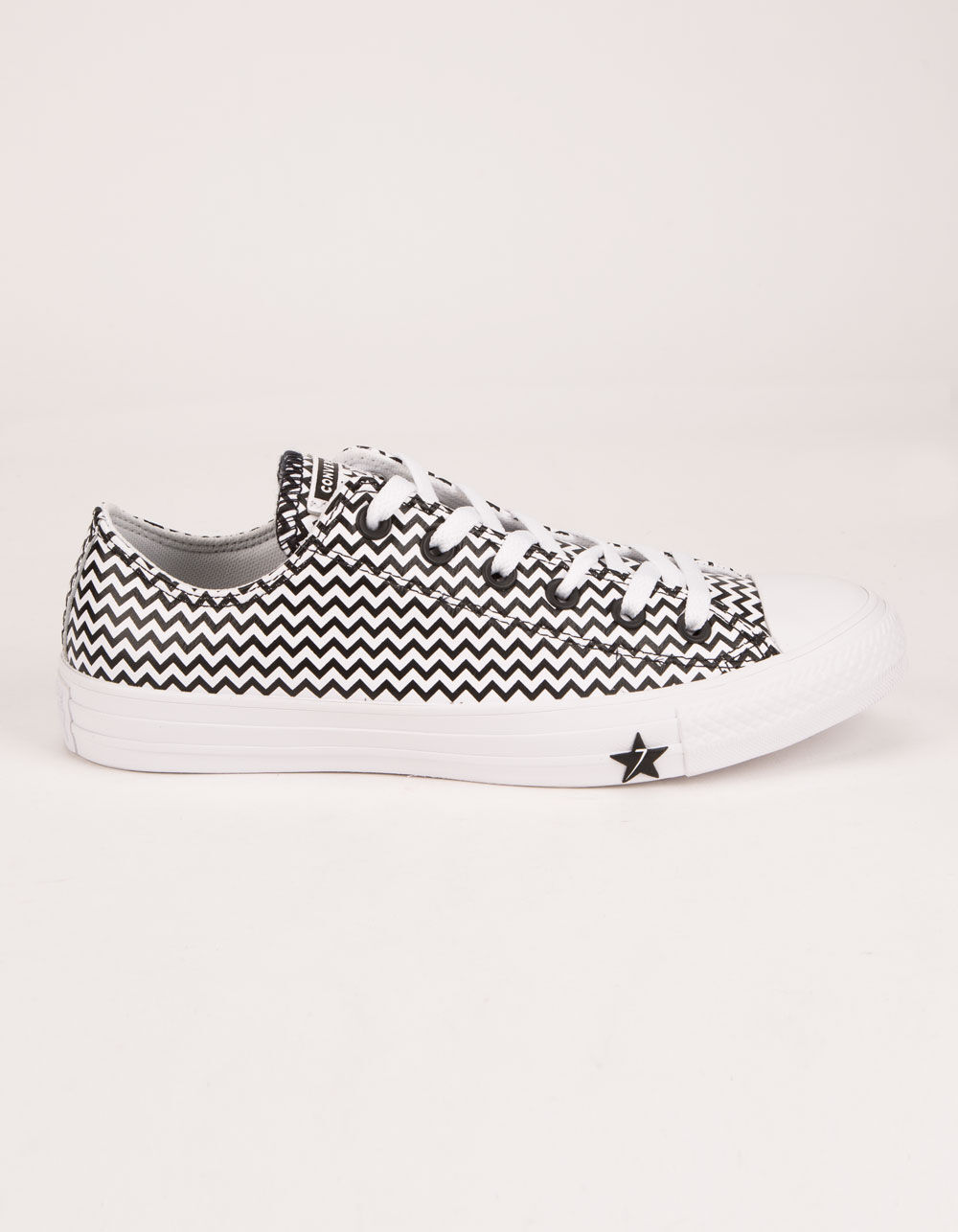 CONVERSE CTAS OX White & Converse Black Shoes