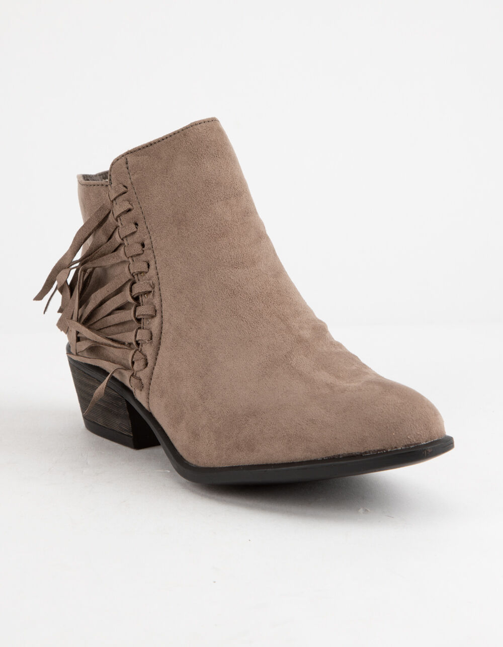 Image of BAMBOO SADIE TAUPE BOOTIES