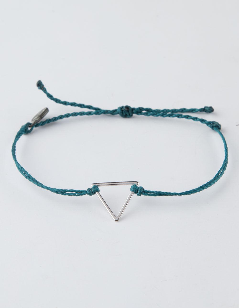 PURA VIDA Triangle Mediterranean Green Bracelet