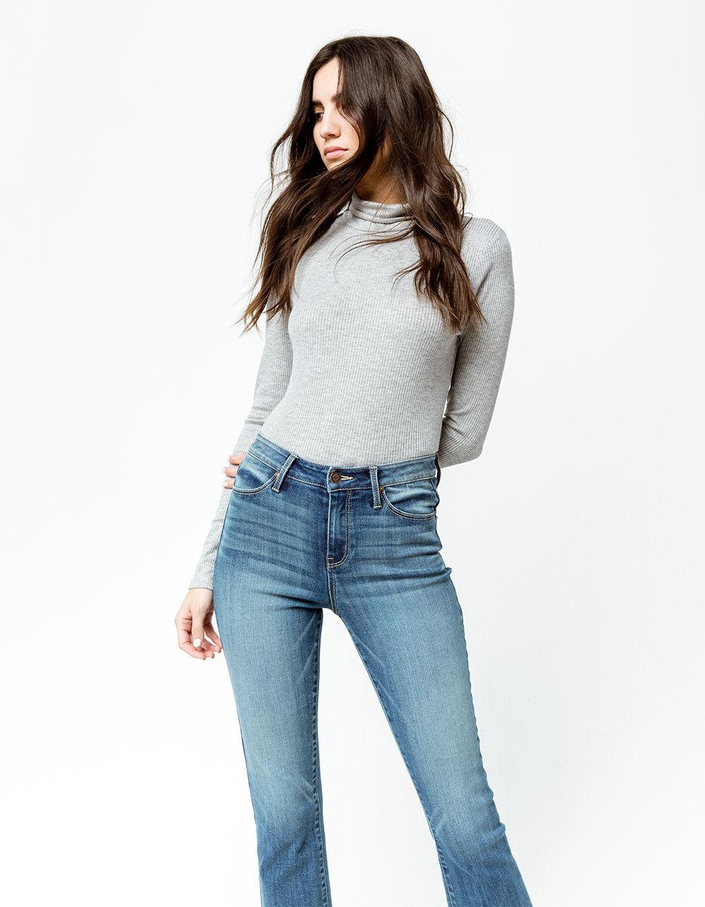 RSQ Sydney Crop Dark Blast Flare Jeans