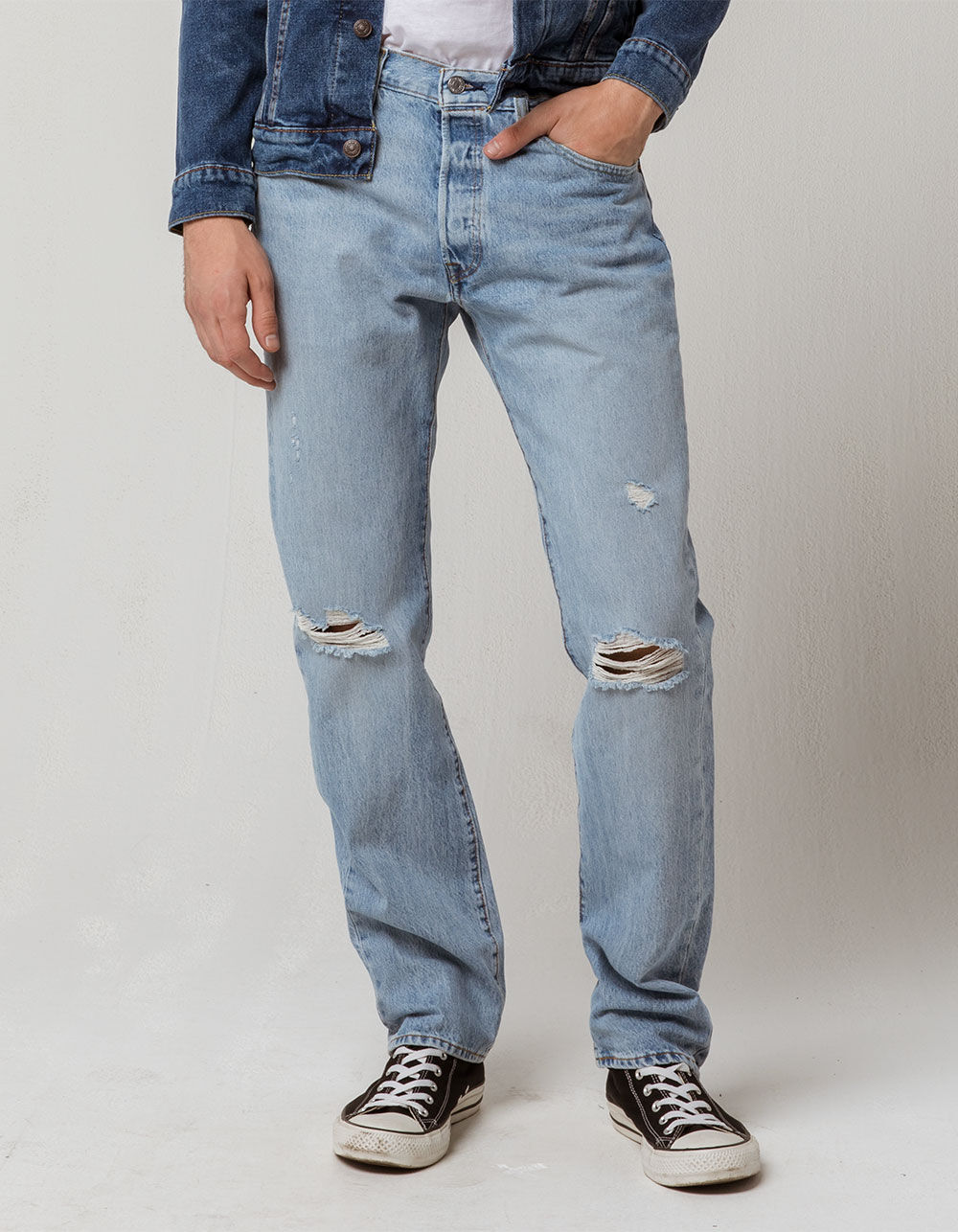 LEVI'S 501 Hector War Ripped Jeans
