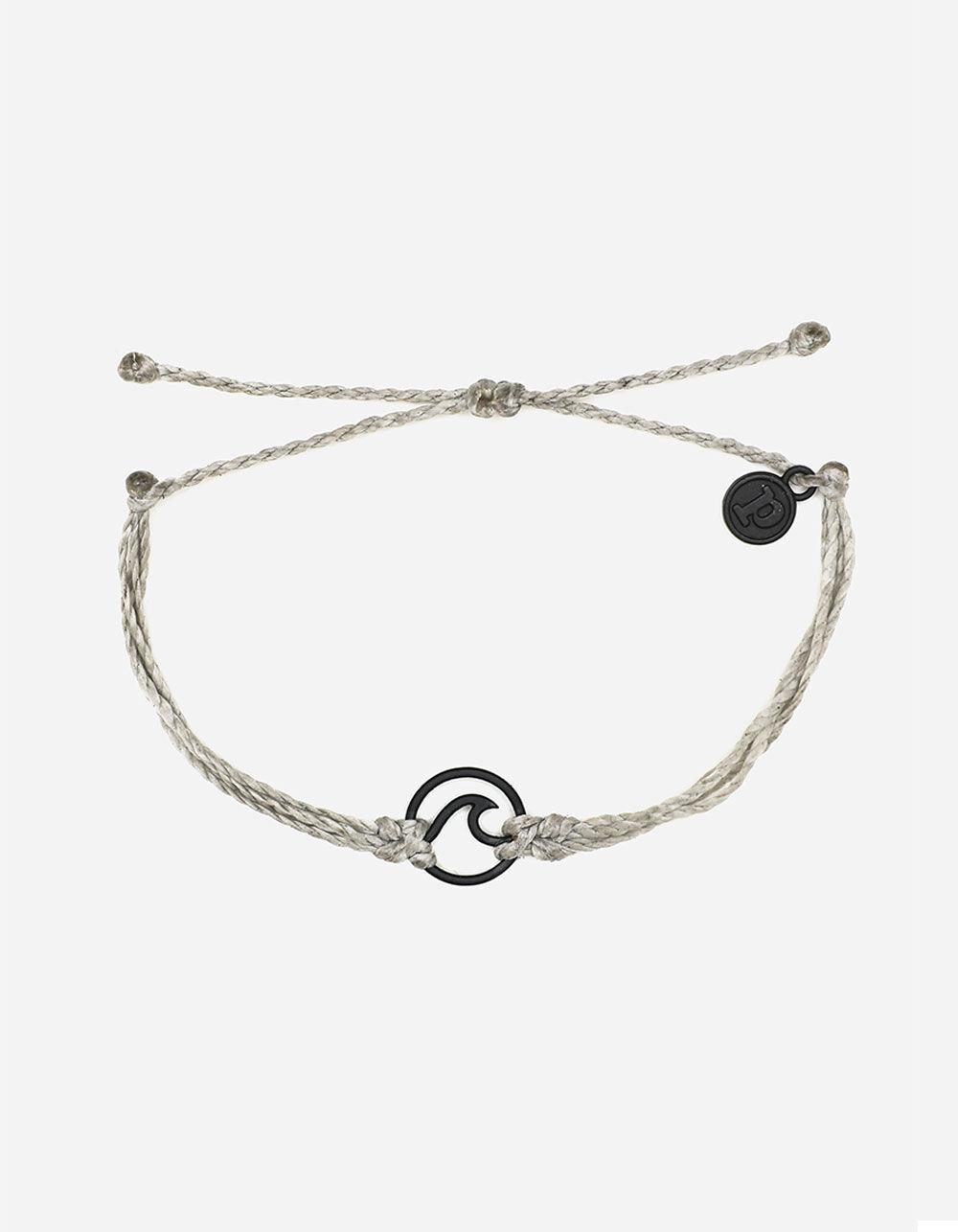 PURA VIDA Wave Light Gray & Black Bracelet