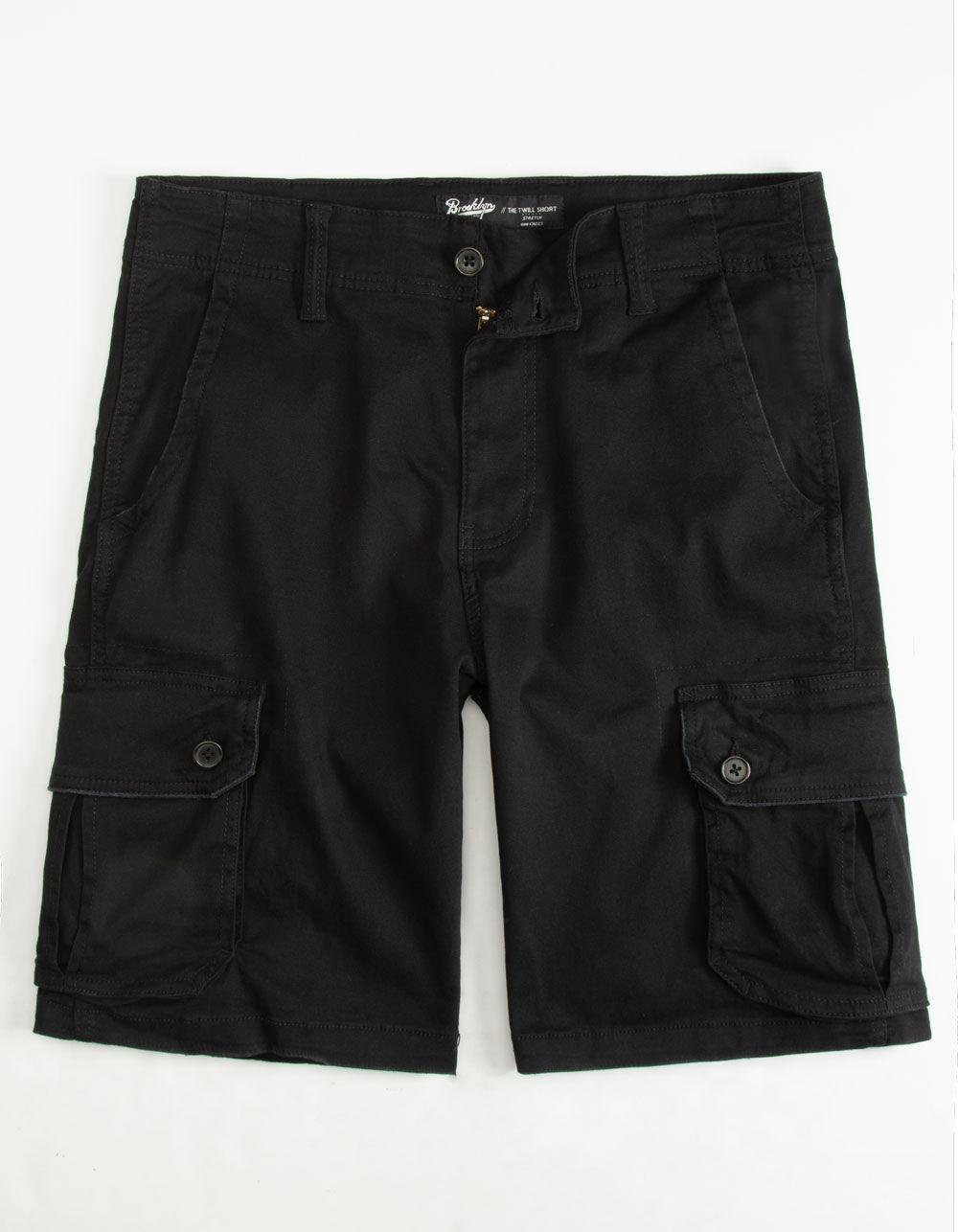 BROOKLYN CLOTH Black Cargo Shorts