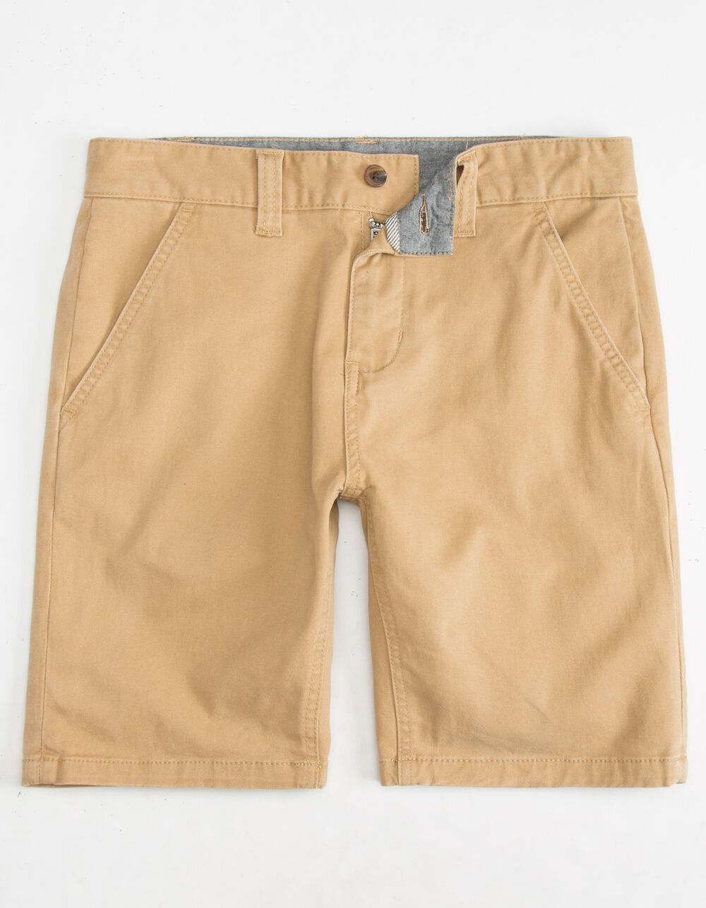 CHARLES AND A HALF Lincoln Stretch Dark Khaki Shorts