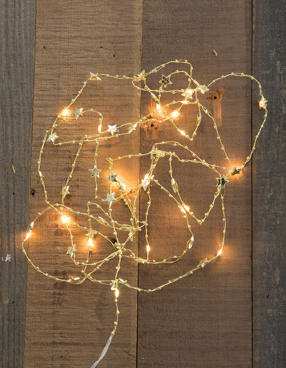 Image of GOLD STAR WIRE LED LIGHTS