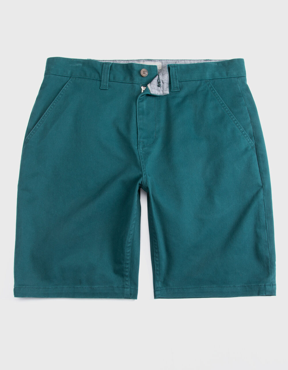 CHARLES AND A HALF Lincoln Stretch Teal Blue Shorts