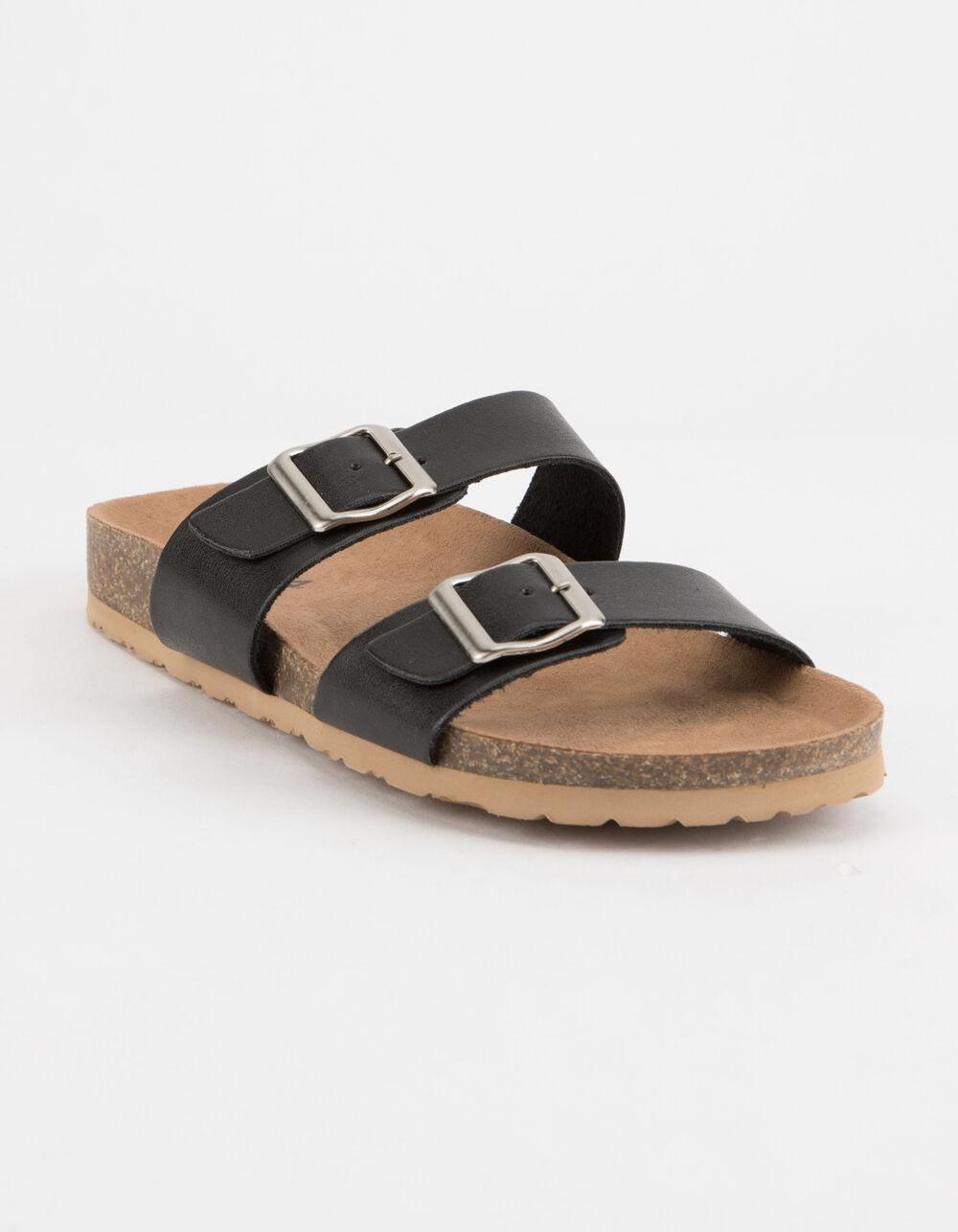 SODA Double Buckle Slide Sandals