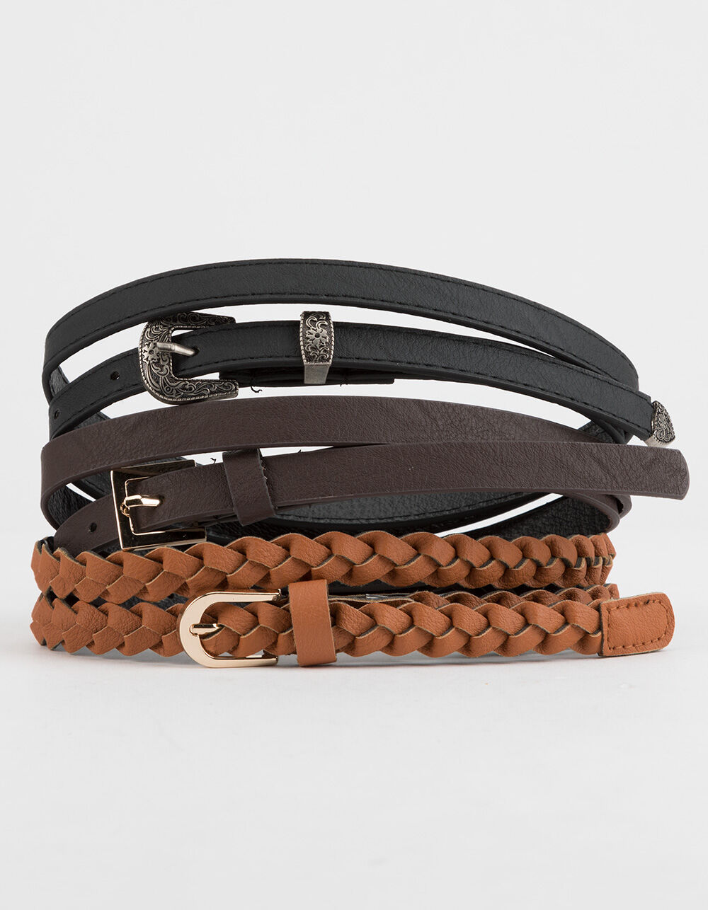 Image of 3 PACK BRAIDED BELTS
