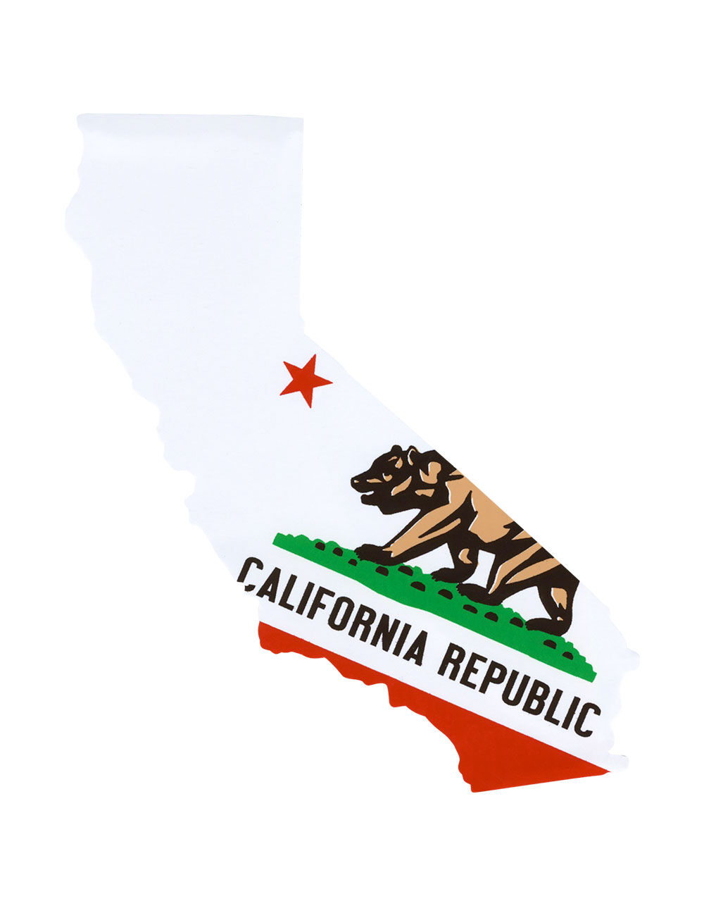 California Bear State Sticker