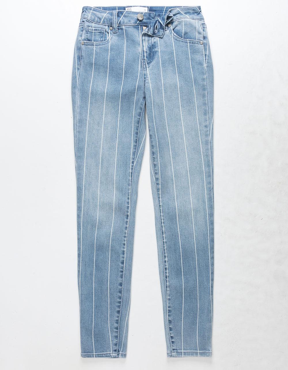 RSQ Ibiza Stripe Girls Skinny Jeans