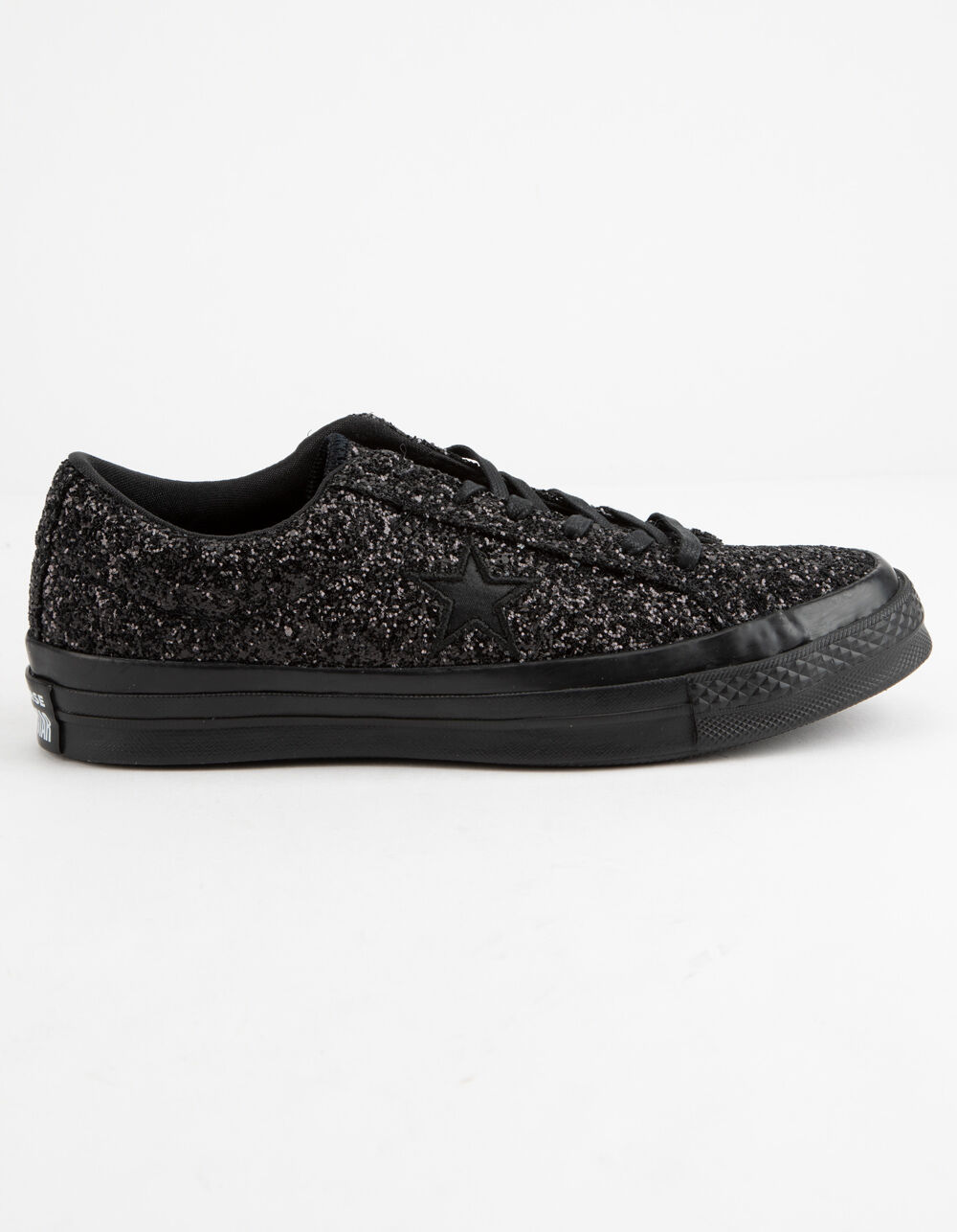 CONVERSE ONE STAR OX GLITTER BLACK SHOES