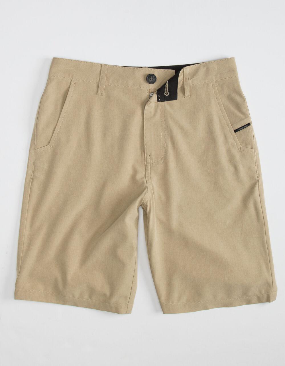 NITROUS BLACK Format Boys Dark Khaki Hybrid Shorts