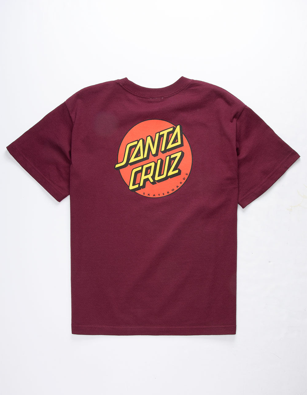 SANTA CRUZ Classic Dot Burgundy Boys T-Shirt