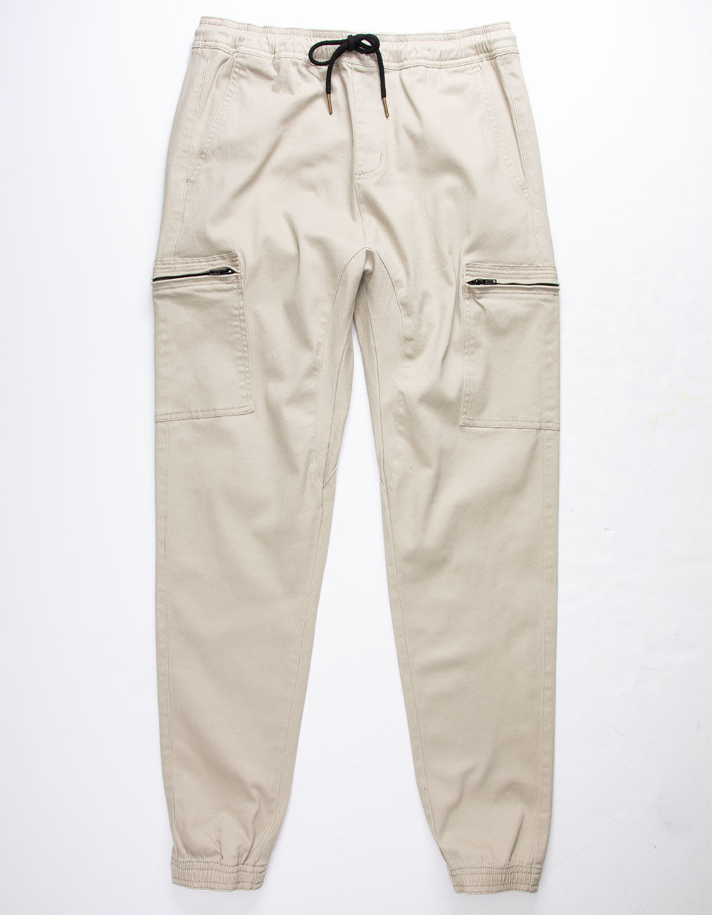 CHARLES AND A HALF Zip Pocket Khaki Cargo Pants