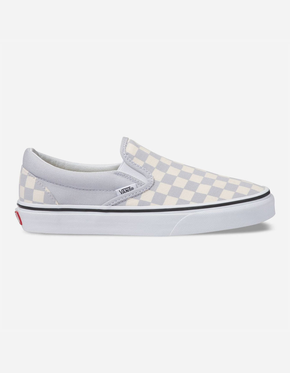 VANS Checkerboard Gray Dawn & True White Slip-On Shoes