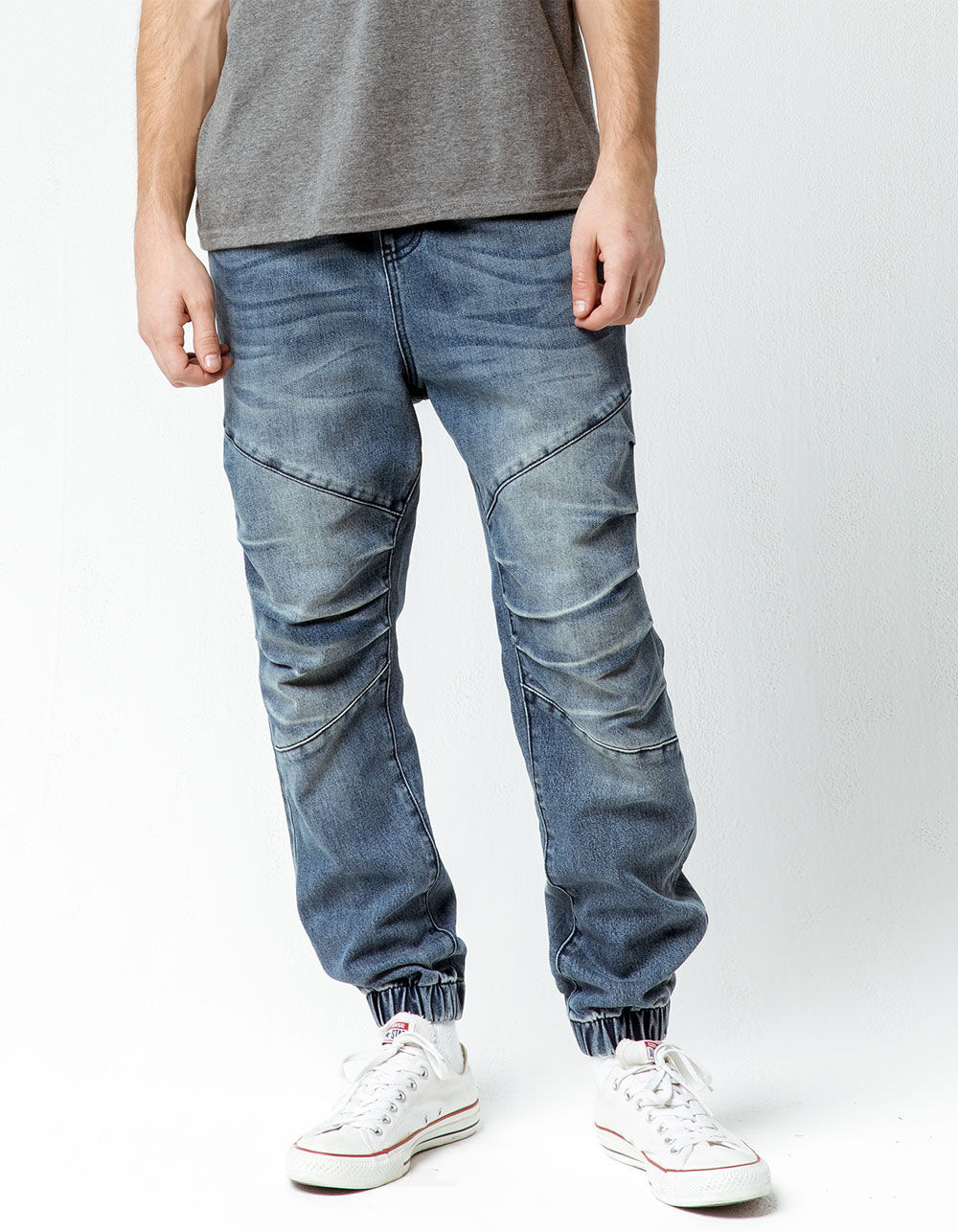 EAST POINTE Wilfred Light Wash Denim Jogger Pants