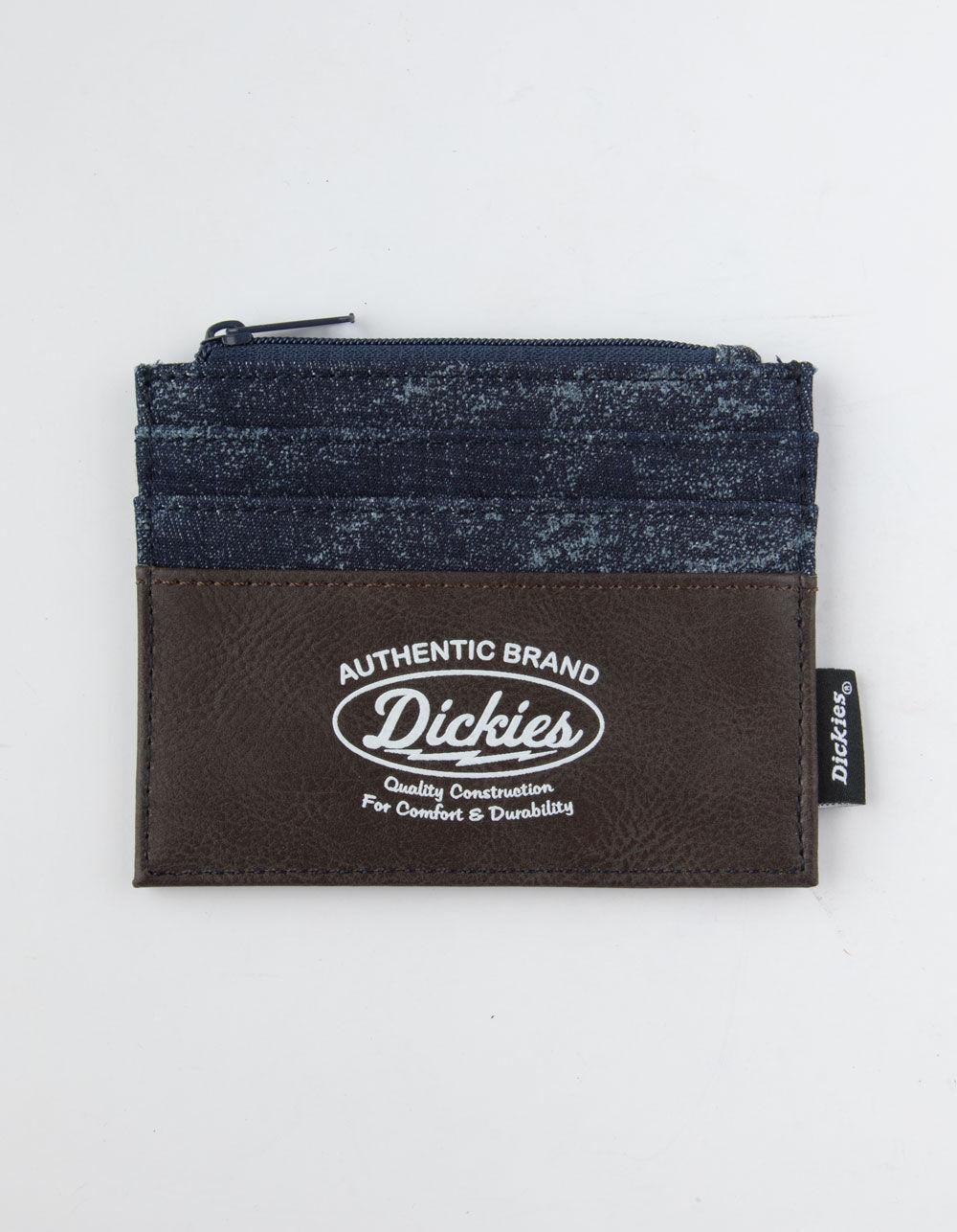 DICKIES Zippered Brown Card Holder Wallet