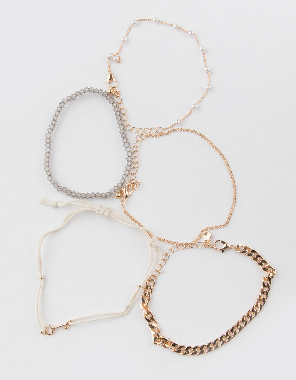 FULL TILT 5 Pack Chain & Pearl Bracelets