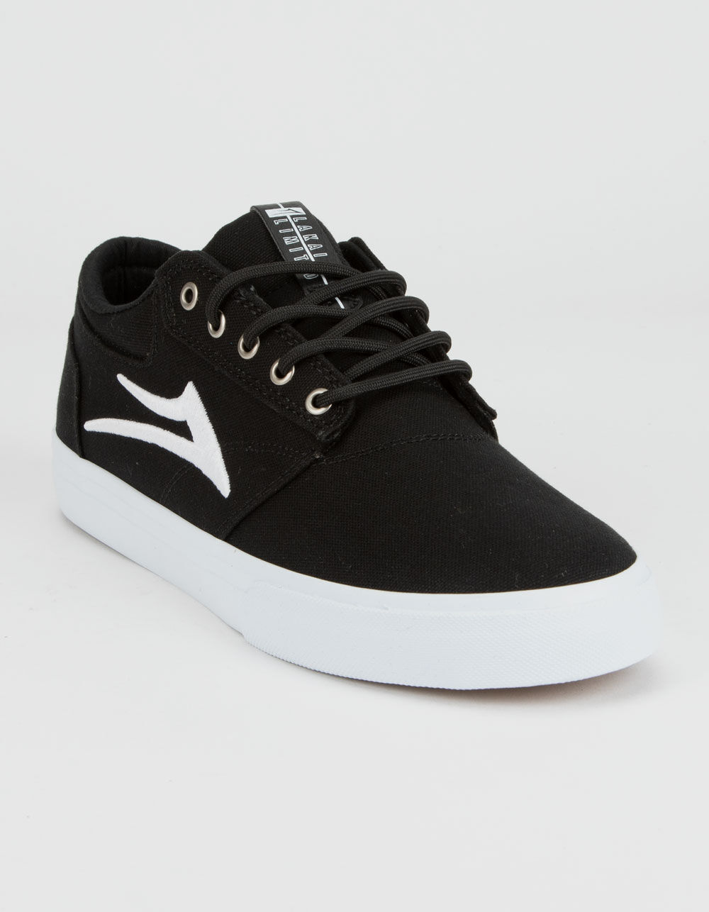 LAKAI Griffin Black & White Canvas Shoes