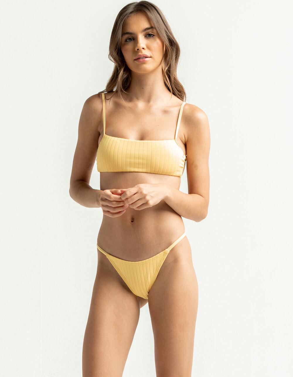 DAMSEL Ribbed High Leg Bikini Bottom