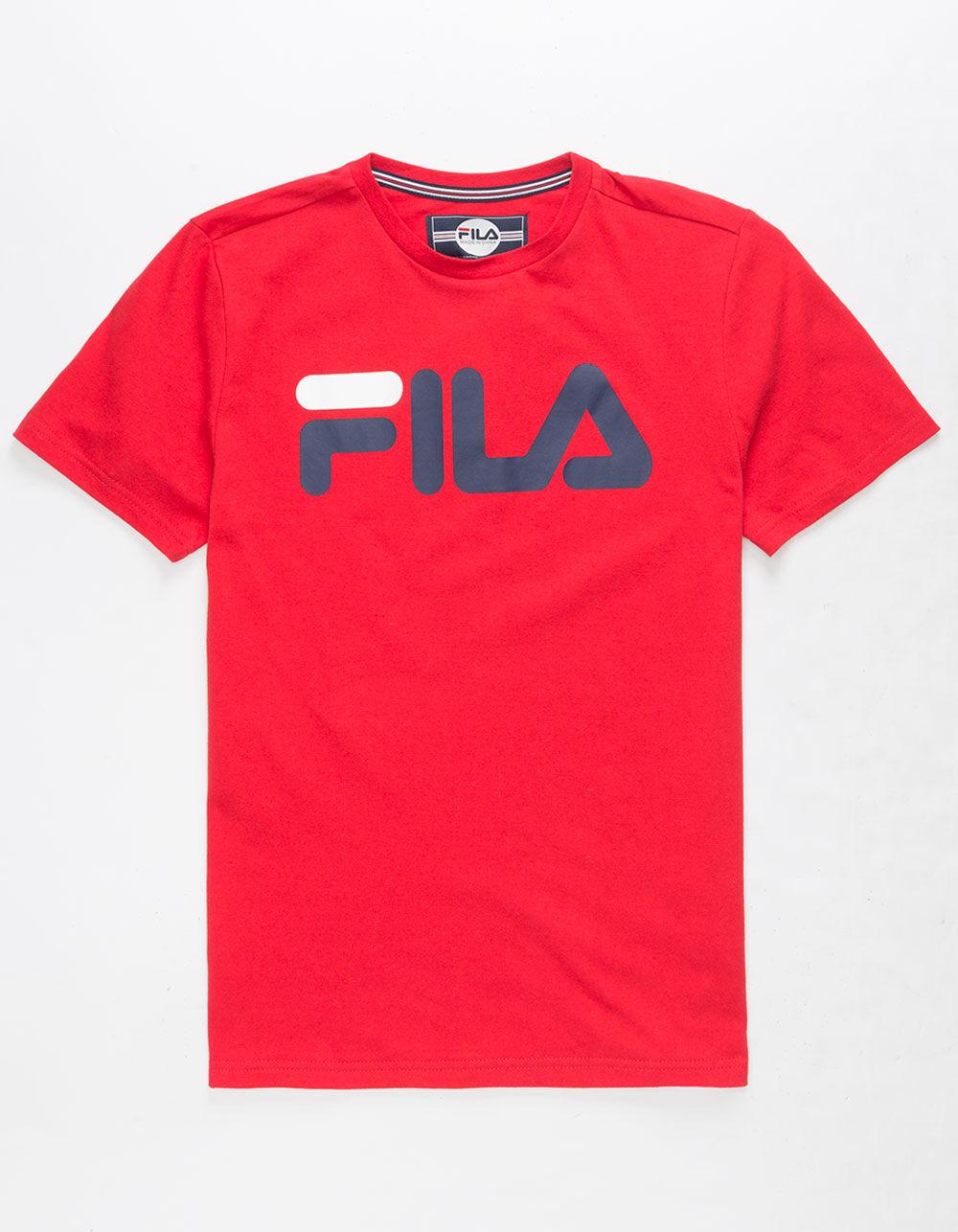 FILA Classic Logo Red Boys T-Shirt