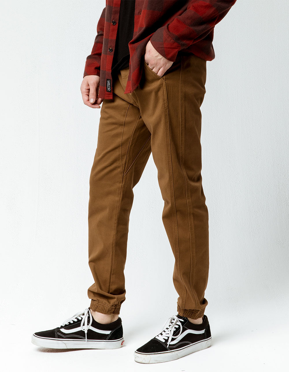 CHARLES AND A HALF Saddle Twill Jogger Pants