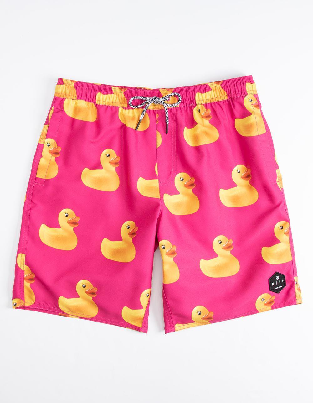 7128dfebff NEFF Ducky Berry Hot Tub Volley Shorts (34176332502) photo