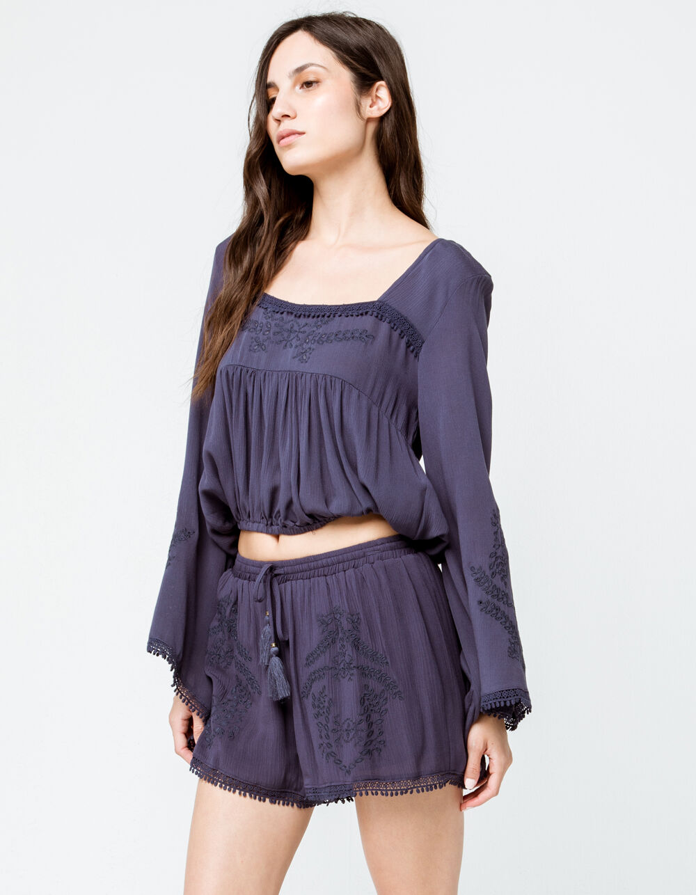 Image of COCO & JAIMESON EMBROIDERED SHORTS