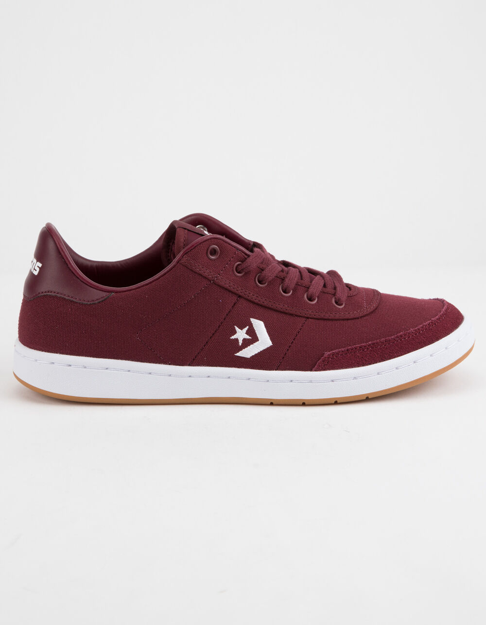 Image of CONVERSE BARCELONA PRO LOW TOP BURGUNDY & WHITE SHOES