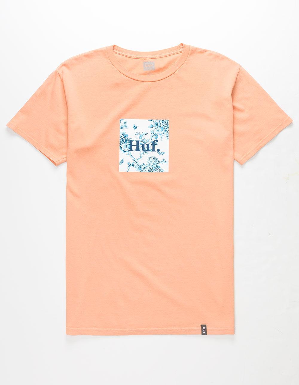 HUF Highline Box Logo Peach T-Shirt