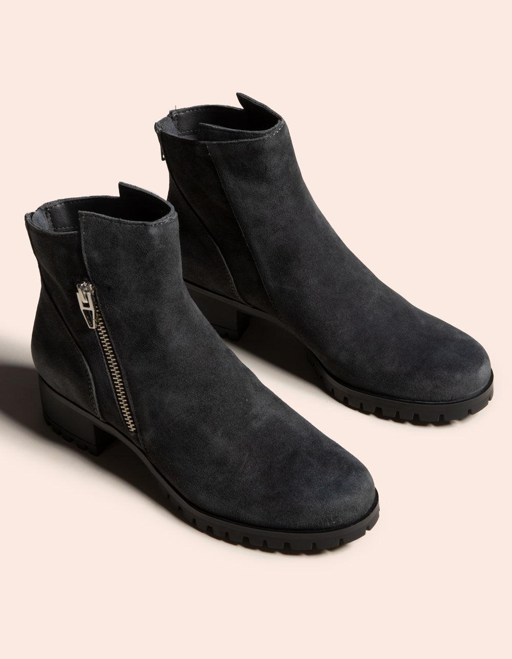 DOLCE VITA Precia Anthracite Suede Boots
