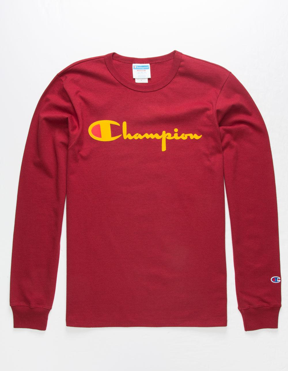 CHAMPION Script Flock T-Shirt