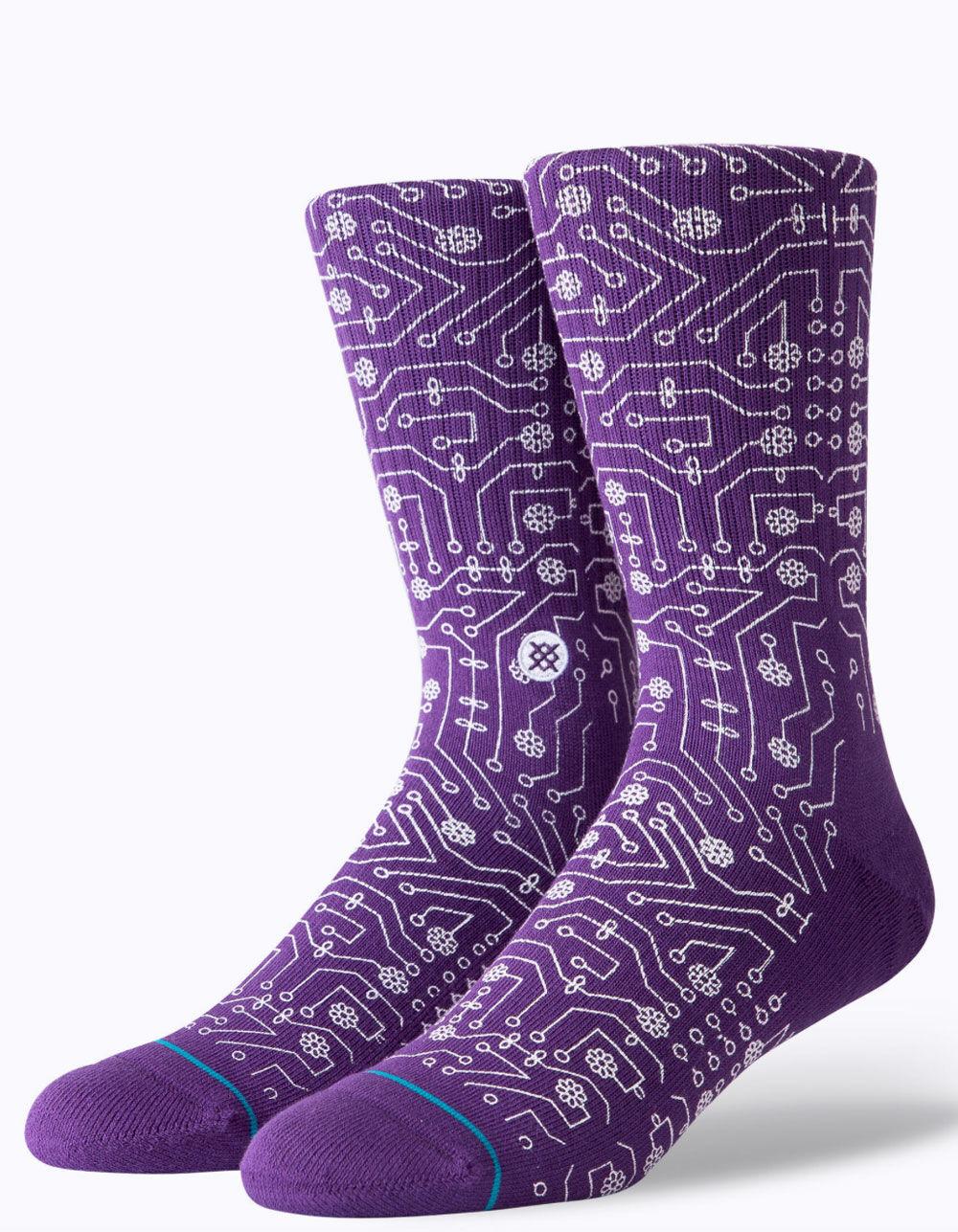 STANCE Connector Purple Crew Socks