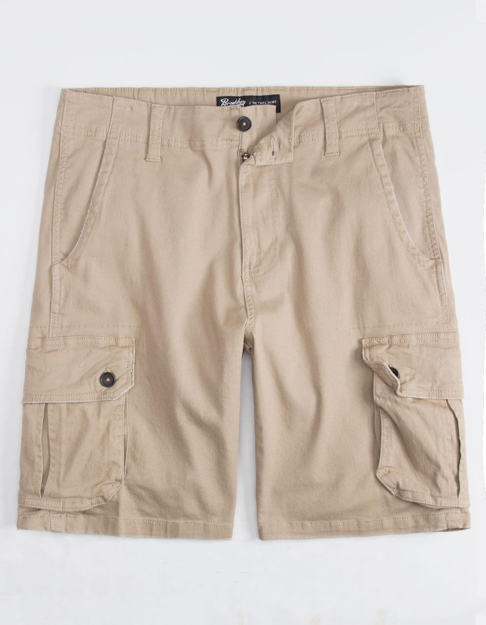 BROOKLYN CLOTH Khaki Cargo Shorts