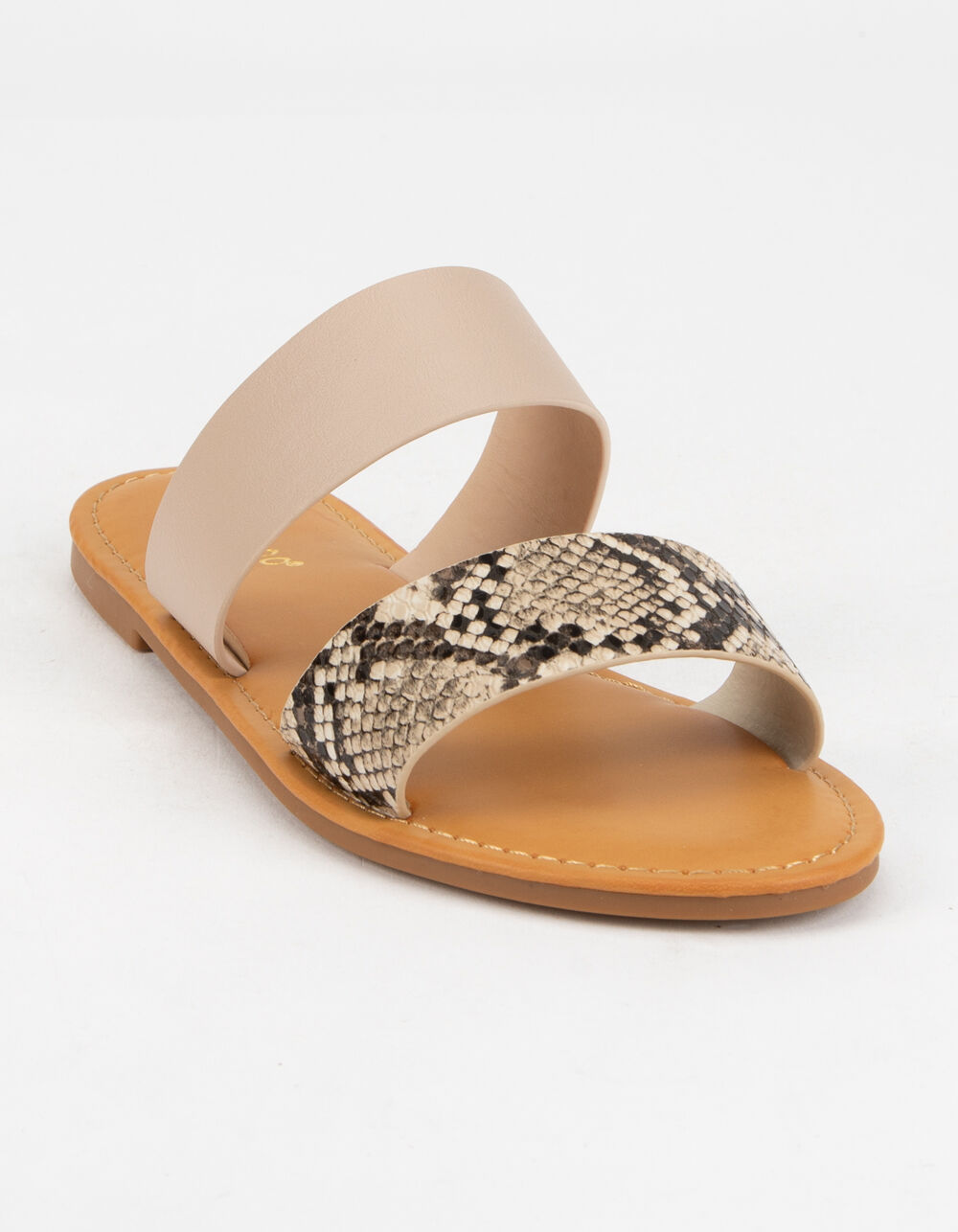 BAMBOO Double Strap Snake Sandals