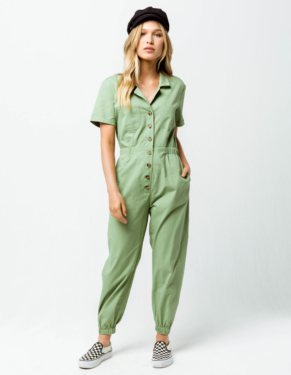 Image of KNOW ONE CARES UTILITARIAN JUMPSUIT