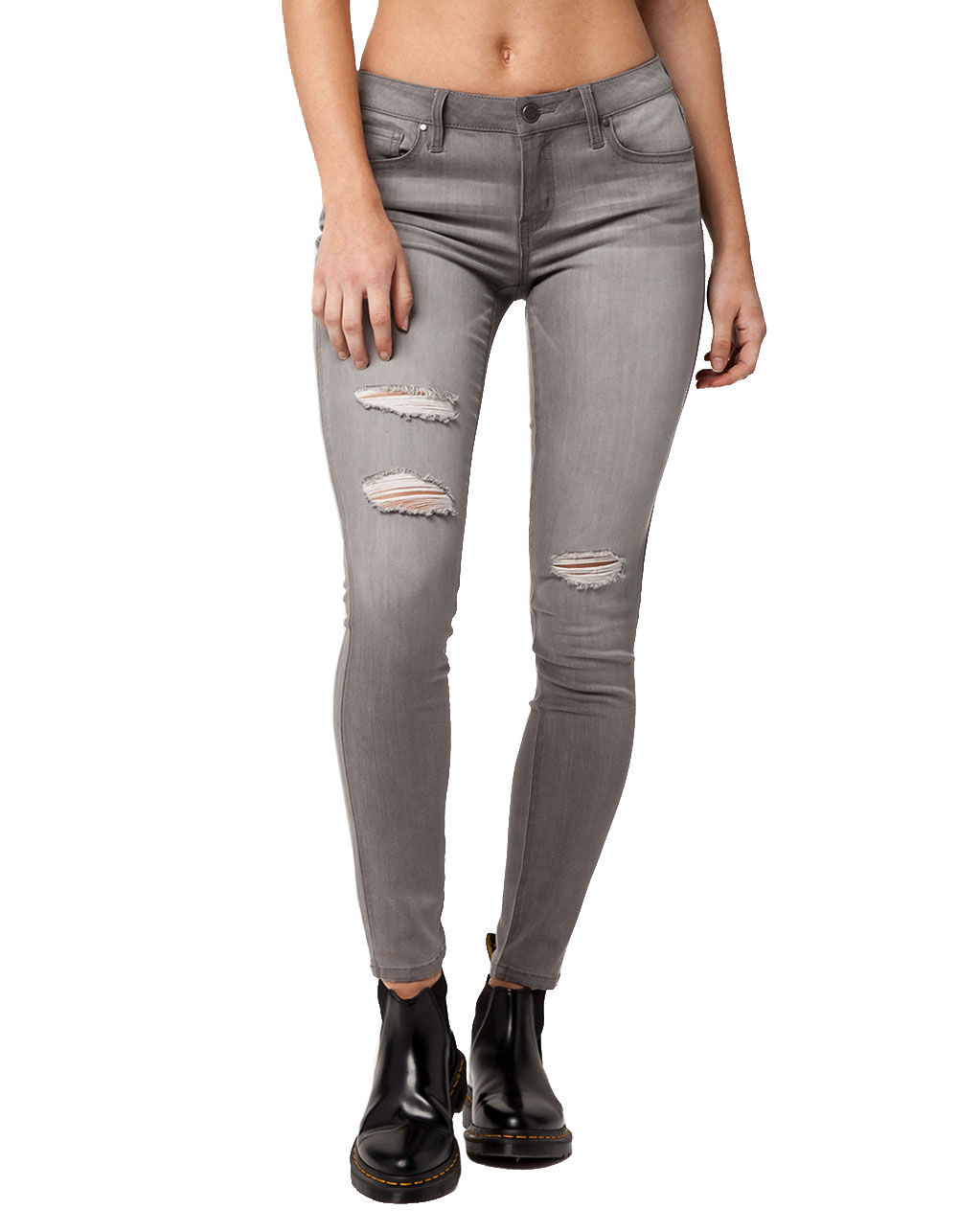 RSQ IBIZA RIPPED SKINNY JEANS