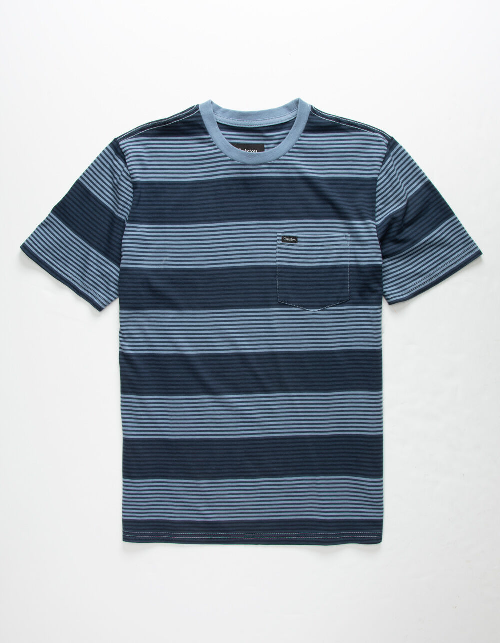 BRIXTON Hilt Blue Pocket Tee