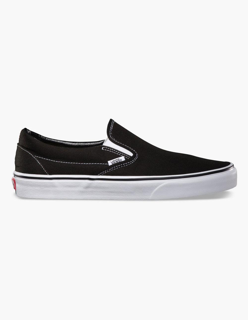 VANS CLASSIC SLIP-ON BLACK SHOES