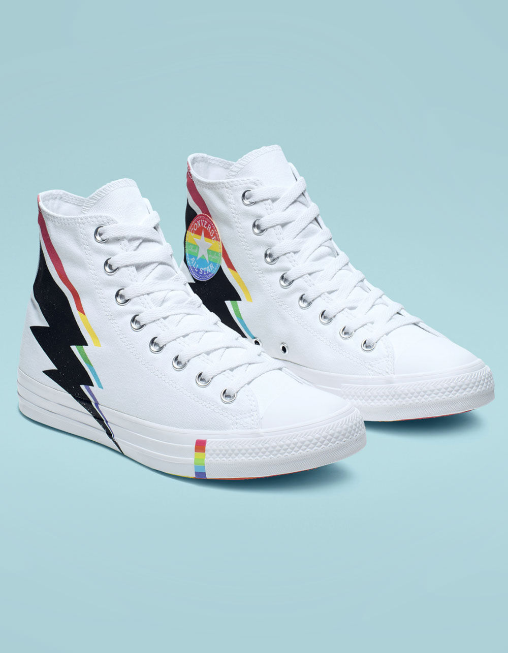 Image of CONVERSE CHUCK TAYLOR ALL STAR PRIDE WHITE HIGH TOP SHOES