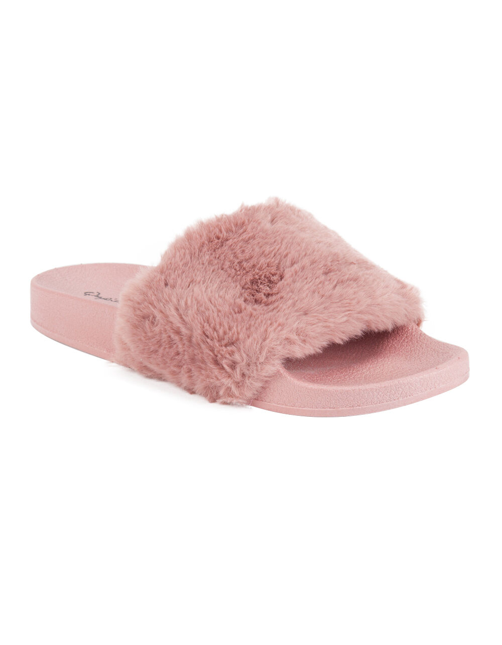 QUPID FAUX FUR SANDALS