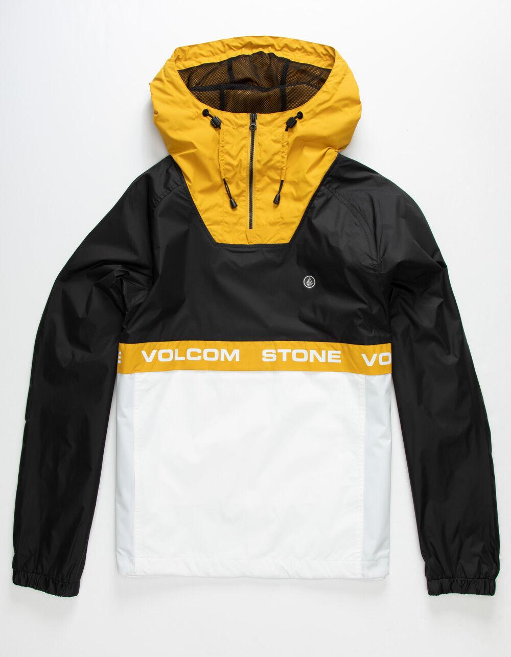 VOLCOM Fezzes Yellow Windbreaker Jacket
