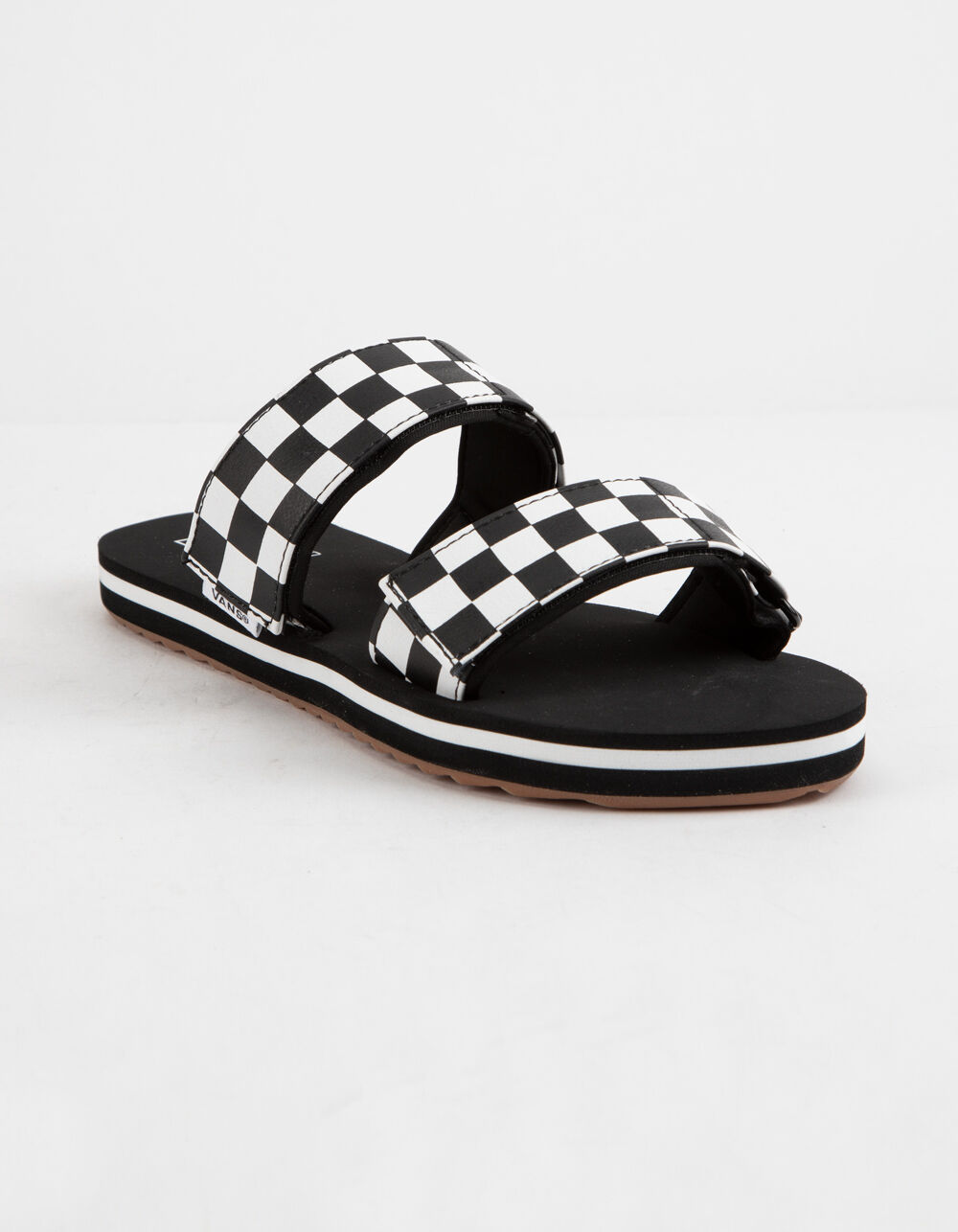 VANS Cayucas Checkerboard Black Velcro Slide Sandals