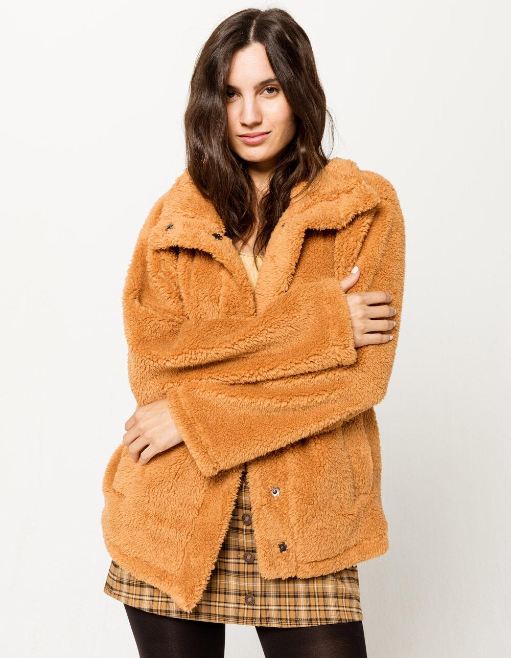 BILLABONG Cozy Days Sherpa Caramel Jacket