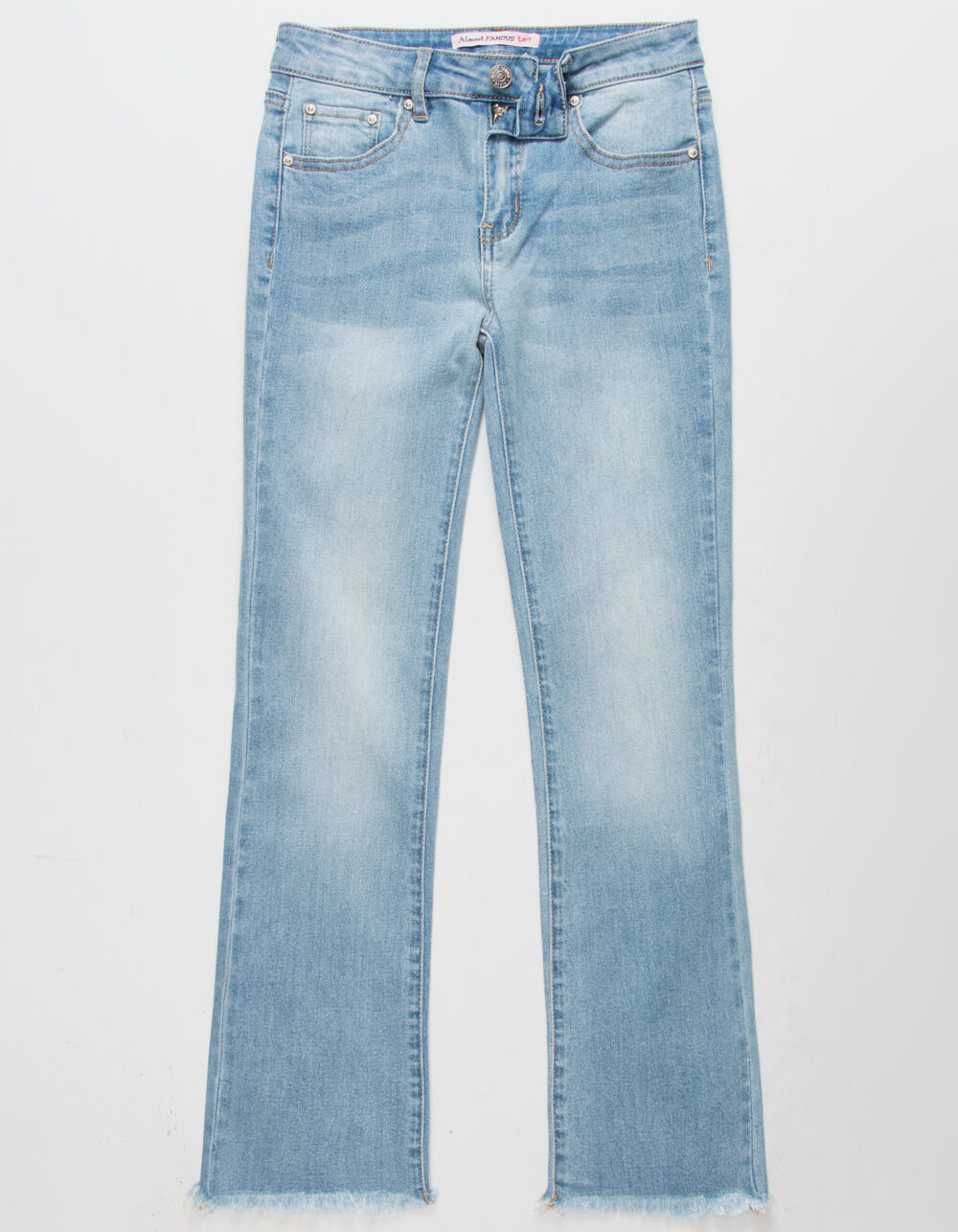 ALMOST FAMOUS Straight Leg Girls Crop Jeans