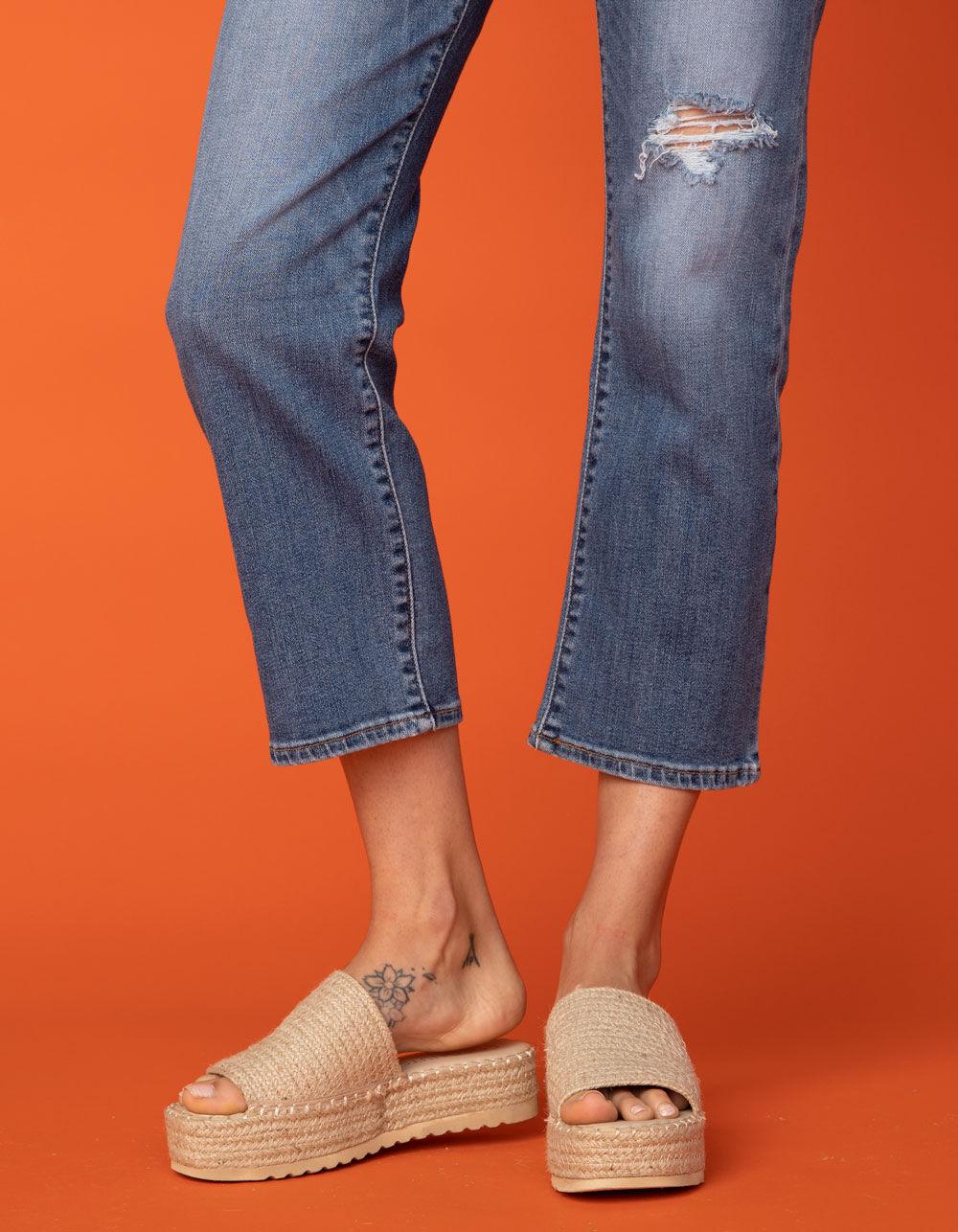 COCONUTS Del Mar Natural Espadrille Flatform Sandals