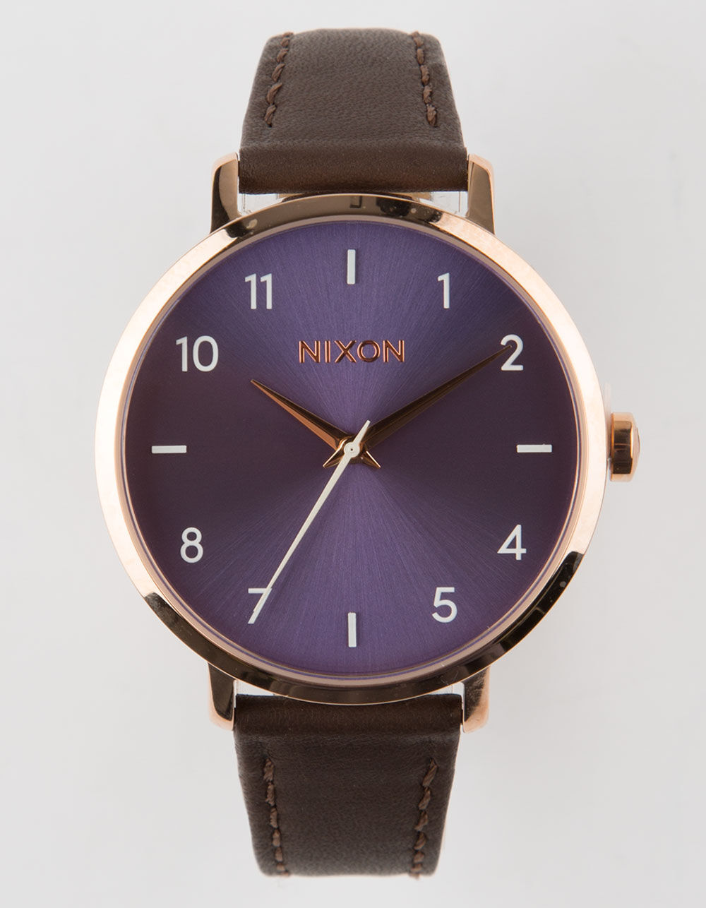 Image of NIXON Arrow Leather Chocolate Lavender & Rose Watch