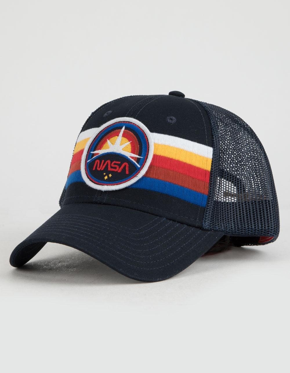 Image of AMERICAN NEEDLE NASA STRIPE TRUCKER HAT